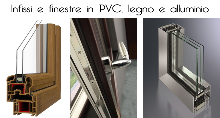 Differenze tra infissi in pvc legno e alluminio for Infissi economici