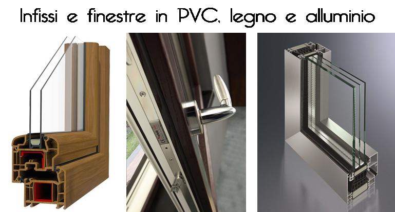 Differenze tra infissi in pvc legno e alluminio for Infissi pvc legno